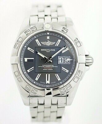 Breilting A49350 Galactic 41 Gray Dial Stainless Steel Automatic Wrist Watch