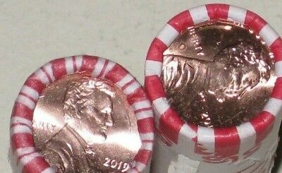 2019 P Lincoln Cent Pennies - 2 Roll Philadelphia Pennies!  Ready to ship