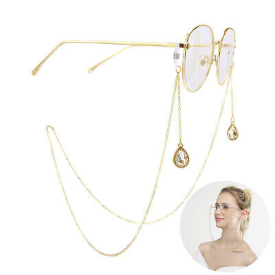 Eyeglass Cord Reading Glasses Eyewear Spectacles Drop Chain Strap Holder Gold P*
