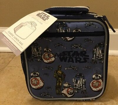 464f6fe7b7 NEW Pottery Barn Kids STAR WARS DROID Classic Lunch Bag  Issues