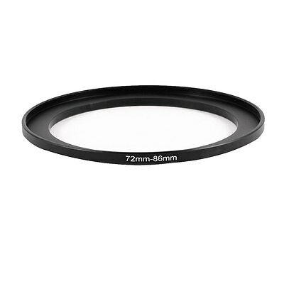 Camera 72mm Lens to 86mm Accessory Step Up Adapter Ring 72mm-86mm Black