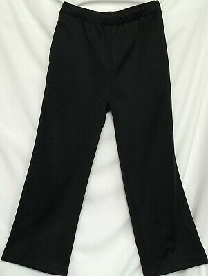 Childrens Unisex Black Track Knit Pants sew-ezy-australia