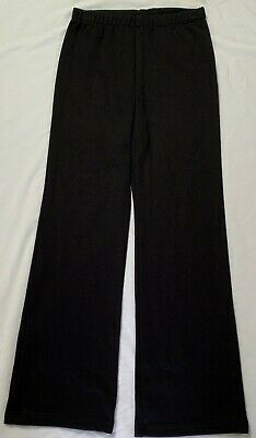 Girls School Bootleg Black Track Knit Pants sew-ezy-australia