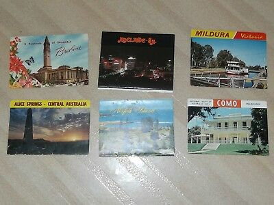 Vintage AUSTRALIAN POSTCARD VIEW FOLDER. FROM 1960s BRISBANE  + 5 other towns