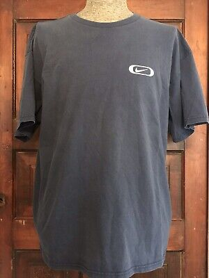 7164af64bb351 VINTAGE 90S NIKE T-Shirt Mens XL Navy Blue Cotton Swoosh 1990s Retro Logo  Tee
