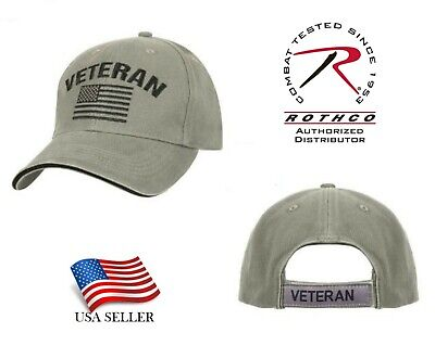 5875a7d6 US Flag Veteran Low Profile Baseball Cap Hat Ball cap Vintage Olive Rothco  3599