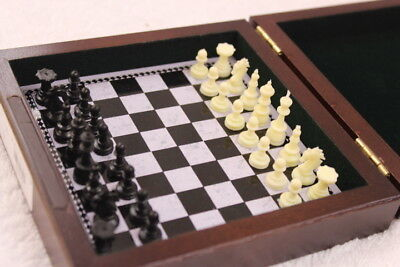 Magnetic Chess & Draughts Travel Set In Wooden Presentation Box