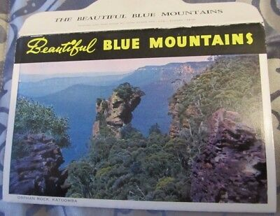 Vintage C1950's John Sands Colour & B/W View Folder beautiful Blue Mountains NSW