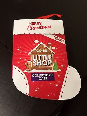 COLES Little Shop Collector's Case Christmas Edition Brand New & Sealed