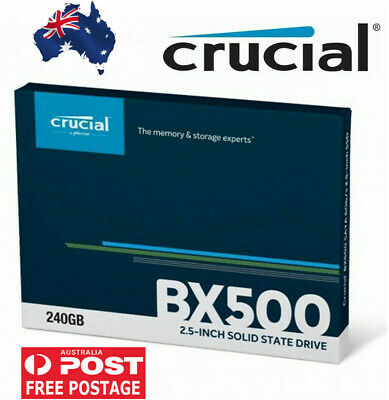 "Crucial 240GB SSD 2.5"" BX500 3D NAND SATA Solid State Drive SATA III 540MB/s"