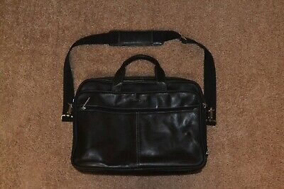 9651910e8cd3 Heritage Colombian Leather Double Gusset 15.4-inch Laptop Briefcase Black  827365