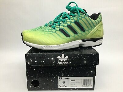 8f737a745bb28 New In Box Adidas ZX Flux Xeno Mens Size 9 Frozen Yellow   Glow 8AQ8212