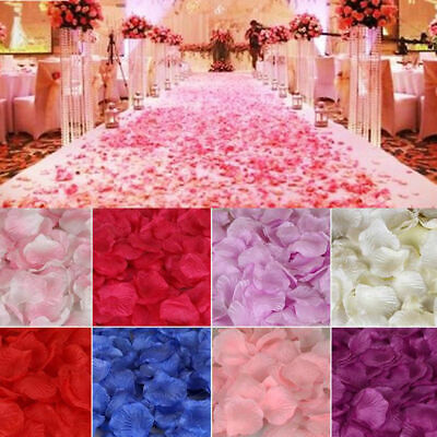 200/400pcs Silk Fabric Flower Mini Artificial Rose Petals For Weddings Party GHL