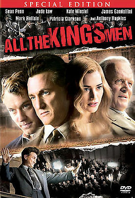 All The King's Men  DVD Special Edition Viewed Once Sean Penn Anthony Hopkins