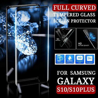 For Samsung Galaxy S10 Plus S10+ S10e Tempered Glass Full Cover Screen Protector