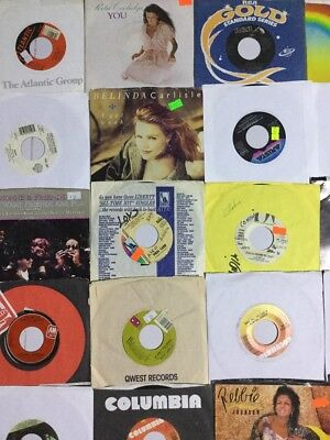 "25 Vinyl 7"" 45rpm records wholesale lot 80S POP DEBBIE GIBSON BELINDA new wave"