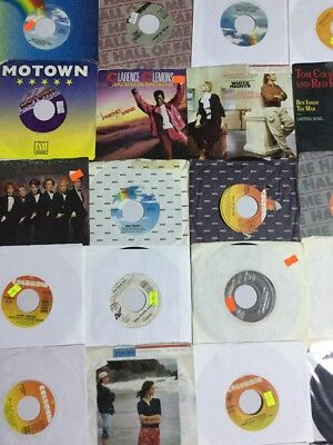 "25 Vinyl 7"" 45rpm records wholesale lot 80S POP WATLEY PHIL COLLINS LA BELLE"