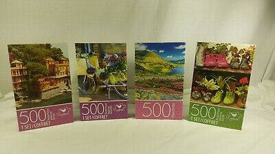 Pastel Country Home Painting 500 piece Cardinal Jigsaw Puzzle New In Sealed Box!
