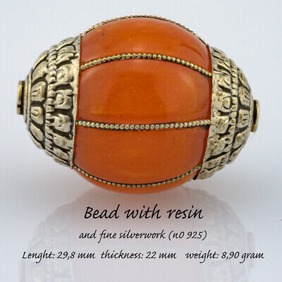 bead with resin