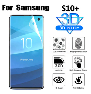 For Samsung Galaxy S10 PLUS Full Screen Protector Guard Ultra Clear HIGH QUALITY