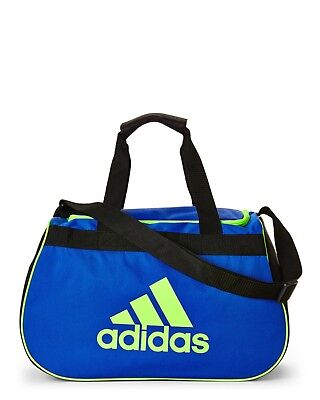 117c68547239 ADIDAS DIABLO SMALL Duffel Gym Trip Travel Sports Athletic Bag Blue ...