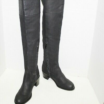 cc95508de6e Sam Edelman womens over the knee boots size 8 leather black block heel  Joplin