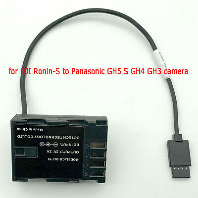 DJI Ronin-s Gimbal to Panasonic GH5S GH4 GH3 BLF19 DC Coupler Faux Battery Cable