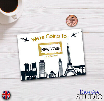 Personalised Travel Surprise Scratch Off Cards Present Birthday Novelty Fun gift