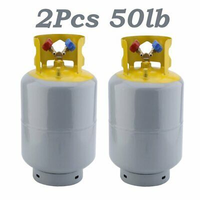 2 Pcs 50Lb Pound Recovery Refrigerant Reclaim Cylinder Tank - 400 PSI NEW BT