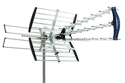 Leadzm Digital 180 Mile HDTV 1080P Outdoor Amplified HD TV 1080P Antenna UHF