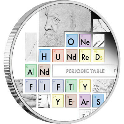 2019 150th Anniversary Of The Periodic Table 1oz Silver Coin