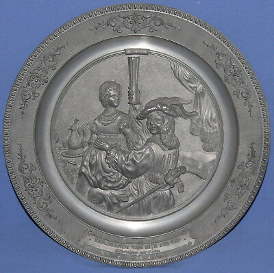 Vintage German Wmf Ges. Gesch Pewter Wall Decor Plate Rembrandt
