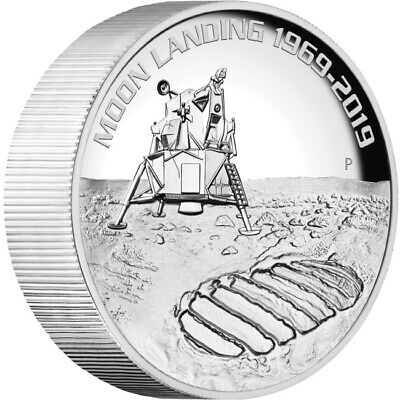 2019 50th Anniversary Of The Moon Landing 5oz Silver High Relief Coin