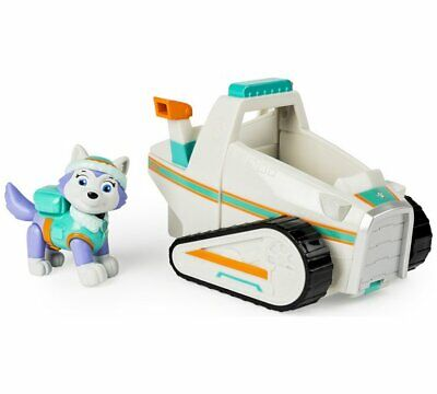 PAW Patrol Everest's Snowmobile Pup & Vehicle With Adventure Bay Action NEW_UK