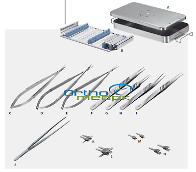 Hand Surgery Basic Set of Micro Surgical Instruments Grade A+ Quality