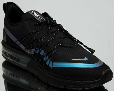 be80b8639db Nike Air Max Sequent 4 Utility Men s New Black Blue Running Shoes AV3236-005