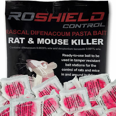 Roshield 75 Rodent Pasta Poison Sachets For Mouse Mice Rat Control - Bait Refill