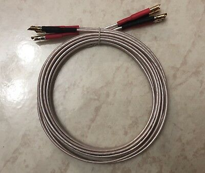 QED Micro High Technology Speaker Cable, with banana plugs both ends 2 x 1.95m