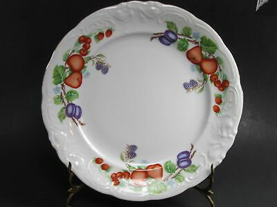 "5 Royal Kent Poland Porcelain Fruit Garland 6"" Bread Butter Plate Set of 5"