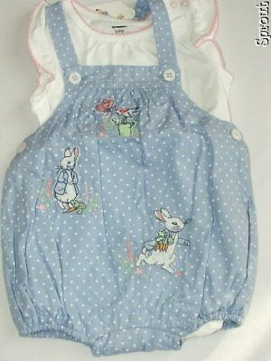 b4a62a3238b5 GYMBOREE PETER RABBIT 6-12 months romper 2 pc outfit EASTER NWT ...