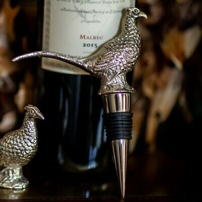 Pheasant Bottle Stopper Culinary Concepts Cork Wine Champagne Bird Bottle Wine