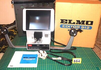 ELMO Editor viewer 912 Dual Type cine Film - Super 8 Standard 8 - BOXED, VGC