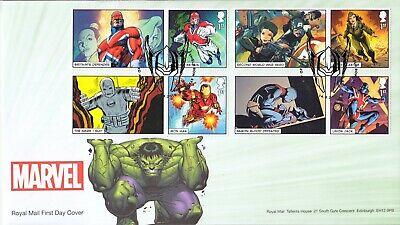 GB 2019 - Marvel Smilers - First Day Cover - set of 3 covers - see scans
