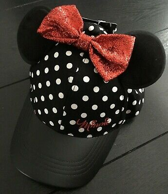Years Primark MINNIE MOUSE Baseball Cap Hat Glitter Ears Bow Girls Age 2-10
