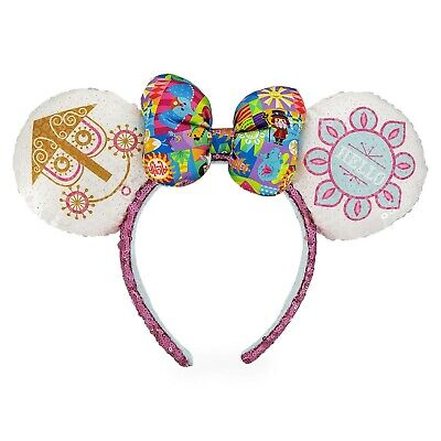 Disney Parks Minnie Mouse Sequined Ear Headband - It's A Small World