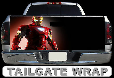 T225 IRON MAN Tailgate Wrap Decal Sticker Vinyl Graphic Bed Cover