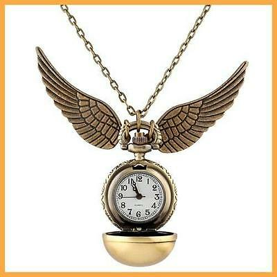 Harry Potter Watch Necklace Snitch Quidditch Pocket Steampunk Clock HOT Pendant