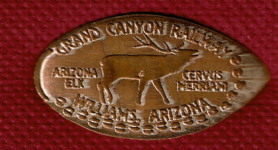 MERRIAM ELK ELONGATED PENNY - Williams, Arizona - Rolled on Pre-82 Copper