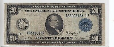 1914 $20 Federal Reserve Bank of Minneapolis $20 Note FR# 999 I6349315A