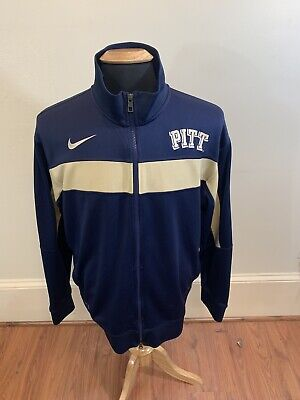 Activewear Clothing, Shoes & Accessories Adidas Pitt Panthers Team Authentic Mens Xl Athletic Warm Up Gold Track Jacket Easy To Use